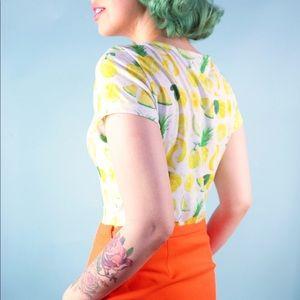 Lindy Bop Tops - Vintage Style Fruit Cocktail Bodysuit